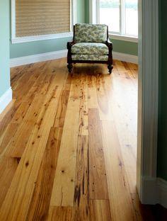 Reclaimed Hickory Hardwood Flooring | Wide Plank Hickory Floor