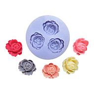 Three+Holes+Flower+Silicone+Mold+Fondant+Molds+Sugar+Craft+Tools+Resin+flowers+Mould++For+Cakes+–+AUD+$+3.68