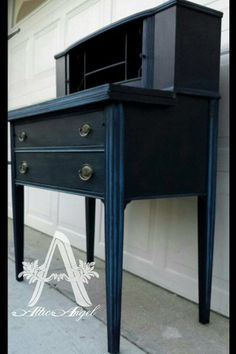 Stunning Piece in PEP Onyx with Blue Custom Wash created by Attic Angel Furniture  http://www.atticangelfurniture.com/