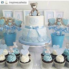 Babyshower, Bear Baby Showers, Baby Shower Boys, Baby Shower Themes, Cakes  Baby Showers, Baby Shower Stuff, Shower Ideas, Baby Cupcake, Baby Boy  Cupcakes
