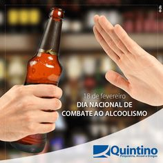 O dia de hoje tem o objetivo de divulgar ações e informações para alertar as pessoas sobre os perigos causados pelas bebidas alcoólicas, que são consideradas a porta de entrada para o consumo desenfreado de outras substâncias químicas. Dados do Ministério da Saúde mostram que o hábito de consumir excessivamente bebidas alcoólicas vem crescendo ano a ano no Brasil. ALCOOLISMO É DOENÇA E PODE SER TRATADO. Valorize a vida. Diga não ao álcool! #CombateAoAlcoolismo #álcoolnão #droga