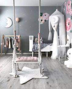 365 Likes, 3 Comments – Kids Decor / Nursery Decor (Jennifer Ver … - Room Decor Cute Bedroom Ideas, Cute Room Decor, Girl Bedroom Designs, Baby Room Decor, Girls Room Design, Room Baby, Baby Bedroom, Nursery Room, Girls Bedroom