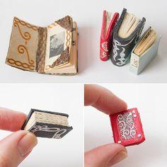 Mini-Bücher fürs Puppenhaus