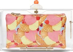 Charlotte Olympia Transparent Whipped Cream Clutch