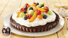 Tarte de brownie aux fruits d'été #IGA #Recettes #Dessert
