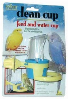 JW Pet Company Clean Cup Feeder and Water Cup Bird Accessory, Sm...Free Shipping…
