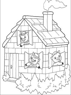 Three Little Pig Coloring Pages New 🎨 Three Little Pigs 13 Kizi Free Coloring Pages for House Colouring Pages, Disney Coloring Pages, Coloring Pages To Print, Coloring For Kids, Printable Coloring Pages, Coloring Pages For Kids, Coloring Books, Coloring Worksheets, Three Little Pigs Story