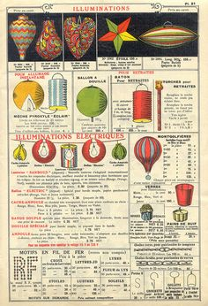 paper lanterns in 1934 French catalog