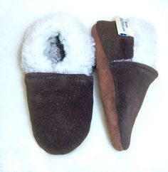 Buy Now Leather suede baby shoes sherpa lined - soft soles warm...