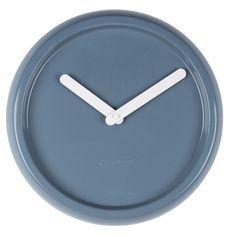 Ceramic Time klok blauw - Zuiver