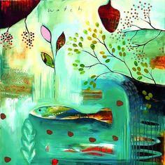 """Abundance by Flora Bowley, 2009 Abstract Drawings, Abstract Canvas, Canvas Art, Art Journal Inspiration, Painting Inspiration, Flora Bowley, Sky Art, Art For Art Sake, Aboriginal Art"