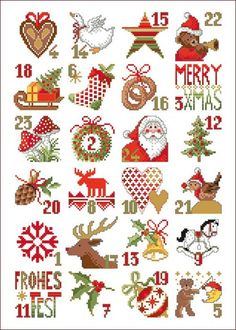 Latest Totally Free Cross Stitch punto de cruz Suggestions Since I've been corner regular sewing due to the fact I'm a lady I actually occasionally suppose that pre Xmas Cross Stitch, Cross Stitch Christmas Ornaments, Christmas Embroidery, Christmas Cross, Cross Stitching, Cross Stitch Embroidery, Cross Stitch Patterns, Advent Calenders, Cute Planner