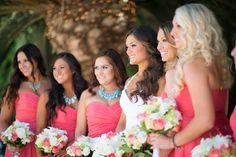 Coral & Teal Rustic Wedding | www.beccarillo.com