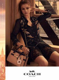 fefde2cf1f Selena Gomez Enchants in Coach s Spring 2018 Handbag Campaign