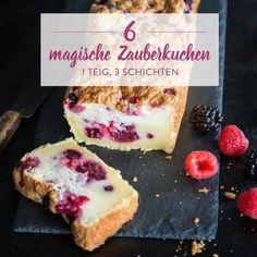 Der bekannte magische Kuchen einmal mit Pekannüssen veredelt: 1 einfacher Teig kommt in den Ofen und heraus kommt eine raffinierte Leckerei mit 3 Schichten.
