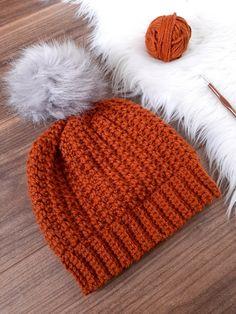 Beanie Pattern Free, Crochet Beanie Pattern, Crochet Winter Hats, Crochet Hats, Free Crochet, Crochet Animals, Knitted Hats, Easy Crochet Hat Patterns, Crochet Stitches