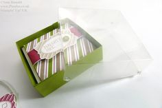 Stampin Up UK Advent Countdown 6 Card Box and Acetate Lid