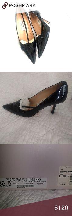 Jimmy Choo 36.5 black patent leather twinkle Jimmy Choo Shoes Heels