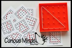 Mini Geoboard shape alphabet and number by CuriousMindsBusyBags