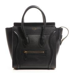 Fashionphile - CELINE Smooth Calfskin Micro Luggage Black