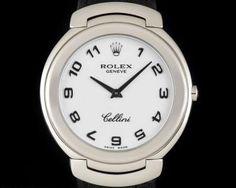 Rolex Cellini Gents 18k White Gold White Dial 6623 Rolex Cellini, Used Rolex, Patek Philippe, Rolex Watches, White Gold, Accessories, Jewelry Accessories