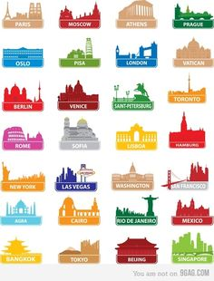 Famous Monuments From Around The World Without Names How Many Could YOU Have