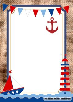 Nautical Invitation Template Free New Free Nautical theme Baby Shower Invitations Templates Free Birthday Invitation Templates, Printable Baby Shower Invitations, Baby Invitations, Invitation Cards, Fancy Baby Shower, Baby Shower Themes, Shower Party, Baby Shower Marinero, Christening Invitations Boy