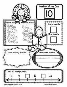 Kindergarten Number of the Day: Great number sense practice.