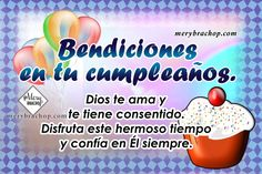 frases cristianas cumpleaños Birthday Quotes For Him, Personal Care, God, Truths, Christian Birthday Greetings, Birthday Words, Birthday Captions, Christian Friends, Short Christian Quotes