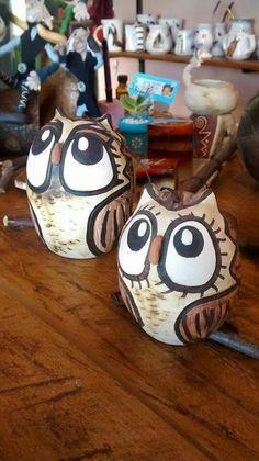 Lechuzas en ceramica