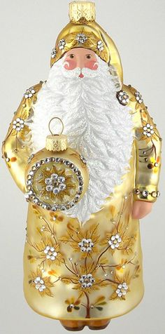 Patricia Breen, Santa for David, Gold 2013  Commissioned Design Milaegers for Christmas