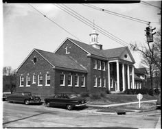 The old Rutherford County Health Department. This picture was taken in the 1950's. It still stands today at the corner of South Church St. and College. It is no longer the health department. The new health department today is one block north. The building is now home to the drug court and Rutherford County Human Resource Archives.