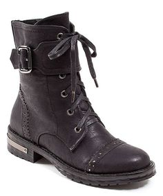 Another great find on #zulily! Black Wrap Laying Boot #zulilyfinds