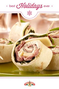 Roll-ups with a kick! Appetizers that you can make the night before a big holiday party.