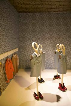 Display for the new Marnis children's fashion collobaration with Spazio Sei winter 2012