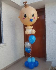 Logra bellas decoraciones usando globos gigantes Baby Balloon, Baby Shower Balloons, Baby Shower Parties, Balloon Centerpieces, Balloon Decorations, Baby Shower Gender Reveal, Baby Boy Shower, Celebration Balloons, Shower Bebe