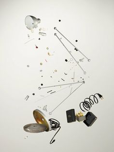 A Photographer Finds Order And Chaos In Disassembled Gadgets - this is a desk lamp!