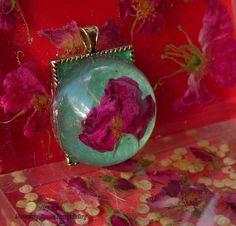 Rose pendant. Flower pendant 76. Unique by CreationsOfTrueFairy, $20.00