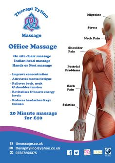 Poster Design - Therapi Tylino Massage ©Helen J Taylor Design