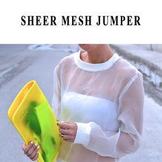 32£ - white sheer mesh jumper LAVISH ALICE