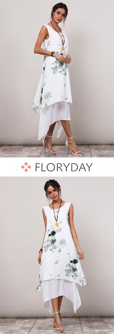 Shop Floryday for affordable Dresses. Floryday offers latest ladies' Dresses collections to fit every occasion. Boho Fashion, Fashion Dresses, Womens Fashion, Fashion Trends, High Fashion, Vogue, Frack, Affordable Dresses, Applique Dress