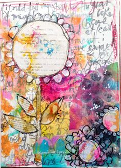 Rae is one of my favorite Mark-makers!  Follow her, you will be inspired I promise!  art journaling with Rae Missigman