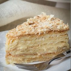 Russian Napoleon Cake is the ultimate Napoleon Cake and a cousin of the traditio. Kuchen , Russian Napoleon Cake is the ultimate Napoleon Cake and a cousin of the traditio. Russian Napoleon Cake is the ultimate Napoleon Cake and a cousin o. French Desserts, Just Desserts, Delicious Desserts, Russian Desserts, Polish Desserts, Russian Cakes, Greek Desserts, Italian Desserts, Delicious Dishes