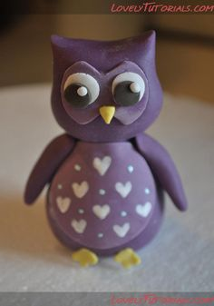 How to make fondant owl