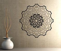 Vinyl Wall Decal Sticker Arabic Circle Design by Stickerbrand, $29.95 Motif Design, Circle Design, Wall Design, Logo Design, Islamic Wall Decor, Islamic Art, Wall Painting Decor, Wall Art, Wall Drawing