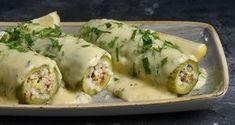 Κολοκυθάκια γεμιστά από τον Άκη Πετρετζίκη. Φτιάξτε το παραδοσιακό και αγαπημένο φαγητό, κολοκυθάκια γεμιστά με ρύζι καρολίνα και σως αυγολέμονο!!