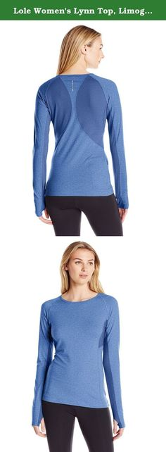 Lole Women's Lynn Top, Limoges Mix, Medium. This sleek top is ideal for fall running or as a base layer under a windbreaker or vest. It's made to move in our moisture-wicking, four-way stretch, heathered fabric with a SPF 50+ factor.