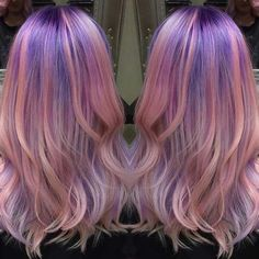 All the celebs have been rocking pastel hair of late and it's encouraged many of us to give the try a shot for ourselves. If you've been thinking of trying out these new and unique pastel hair color ideas for yourself but aren't sure where to Violet Pastel, Pastel Purple Hair, Hair Color Purple, Bright Hair, New Hair Colors, Cool Hair Color, Pink Purple, Blue Hair, Lilac Hair