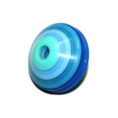 Toupie multistrate 24x34mm turquoise - bleu brillant