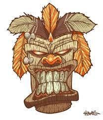 Resultado de imagen para tiki mask tattoo designs